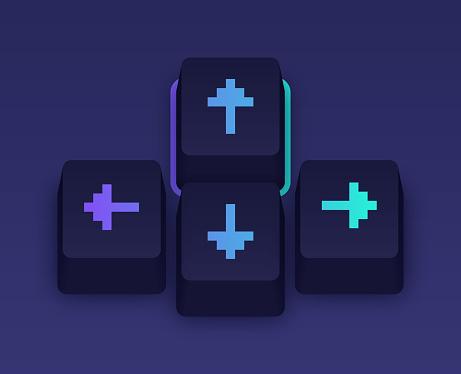 Gaming Arrow Keyboard Keycaps