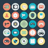 Let's play Game! Here are the icons of Gaming. They can be used for sports and game. You will find icons of video games, joystick and other equipment's like casino, playing cards, chess, billiards, snooker, and other outdoor and indoor playing activities.
