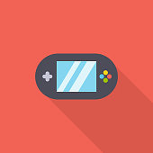 Gaming Console Flat Icon.