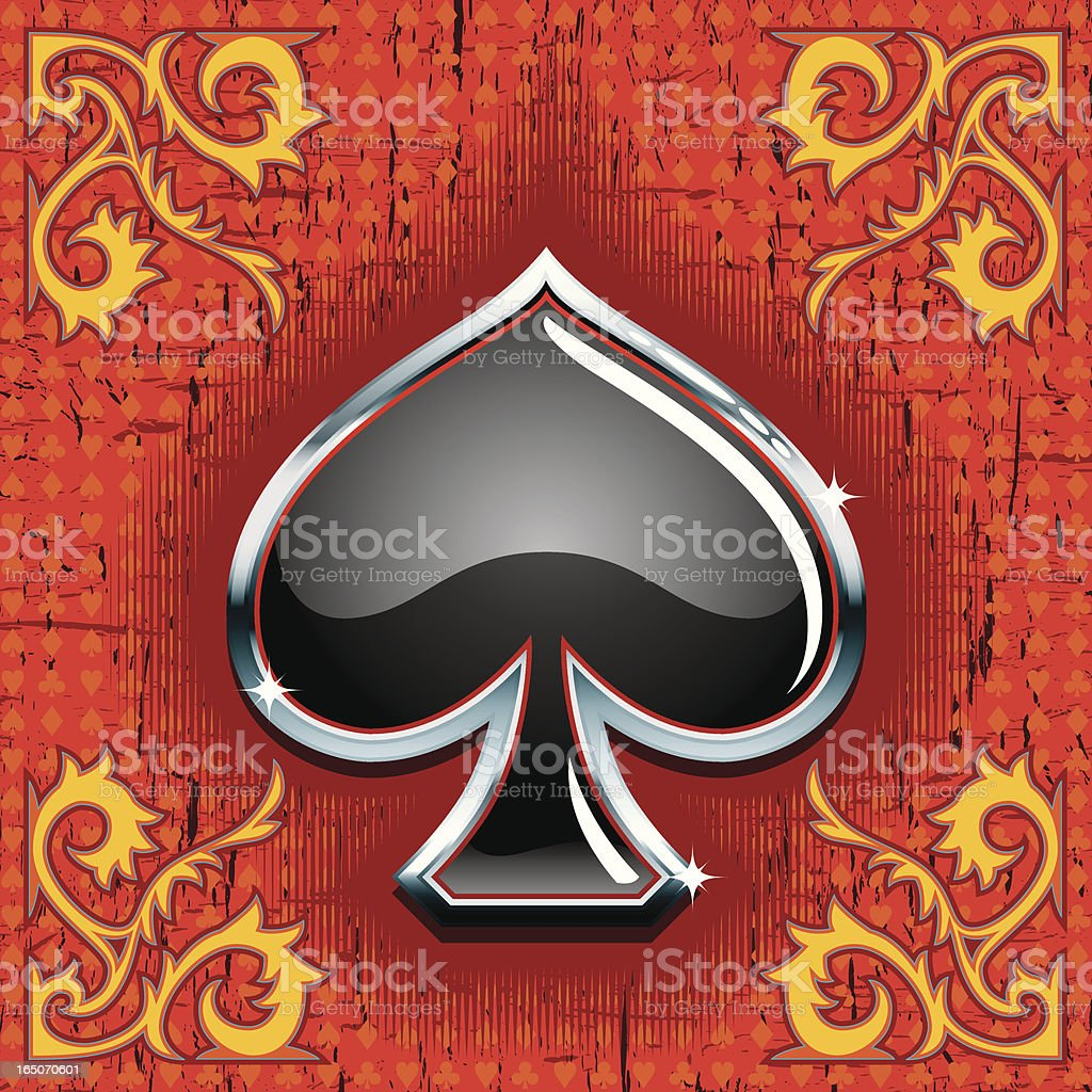 Gaming Elements II -Spade- vector art illustration