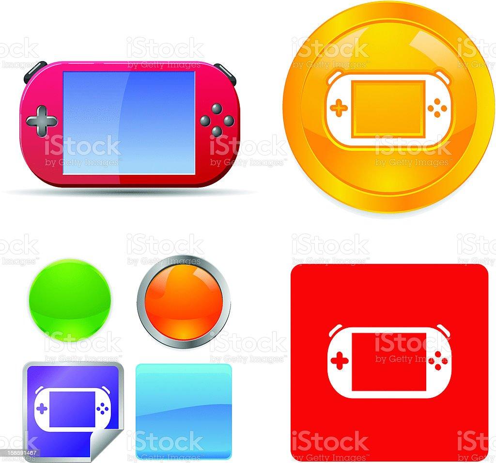 Gaming Gadget Vector Icons vector art illustration