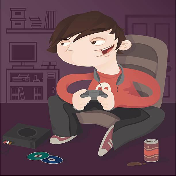 Gaming Night In vector art illustration