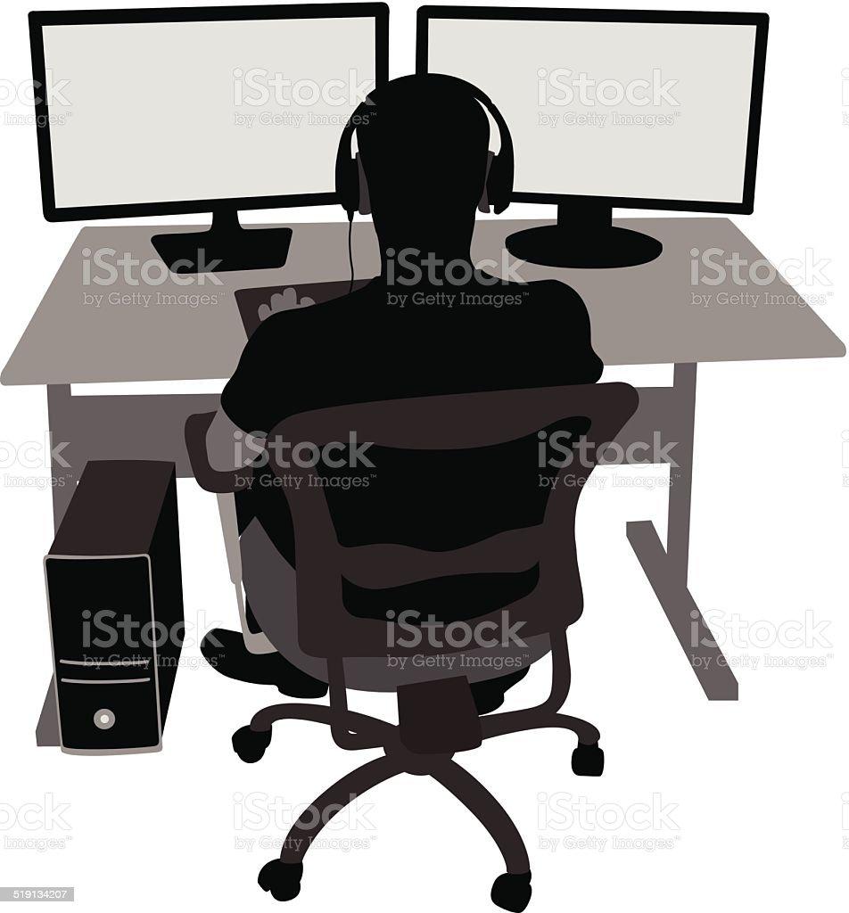 GamingMonitors vector art illustration