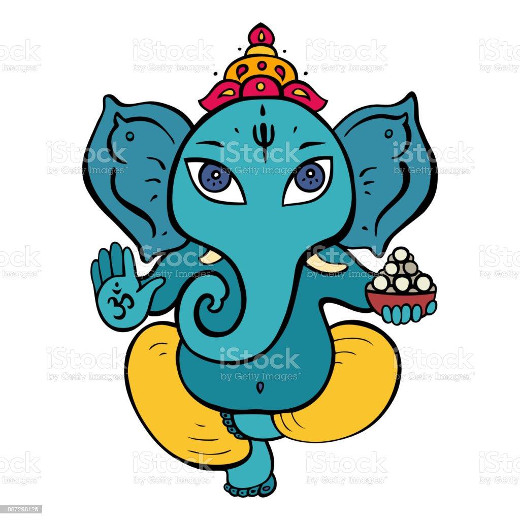 ganapati meditation in lotus pose stock vector art more images of rh istockphoto com vector artwork free vector artwork