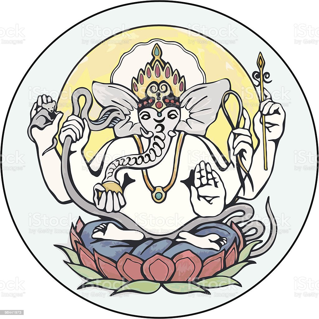 Ganesh / Ganesha Illustration Icon royalty-free stock vector art
