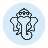 Ganesha - Pixel Perfect Single Line Icon