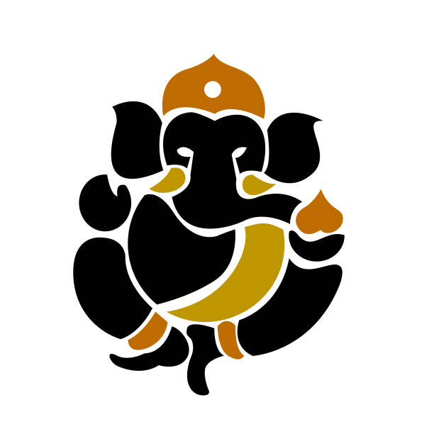 Ganesha symbol logo - vector illustration Icon - illustrazione arte vettoriale