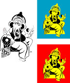 Ganesha , Hindu Wedding card ,Invitation  Card,All elements are in separate layers color can be changed easily.