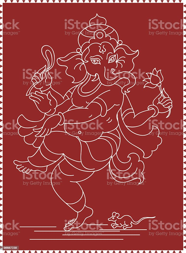 Ganesha royalty-free stock vector art