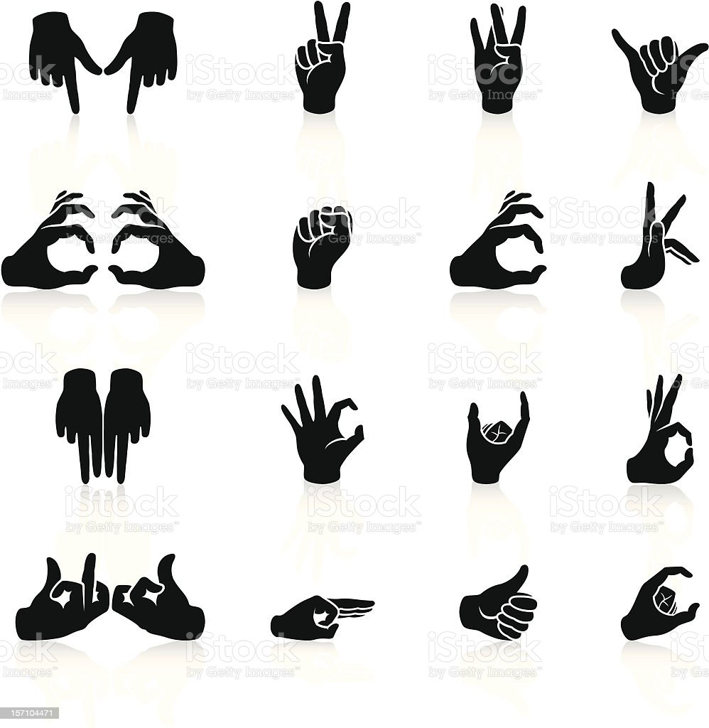 Gangs hand sign icons black series stock vector art more images gangs hand sign icons black series royalty free gangs hand sign icons black series buycottarizona Choice Image