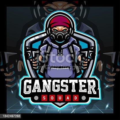 istock Gangster mascot. symbol design 1342497263