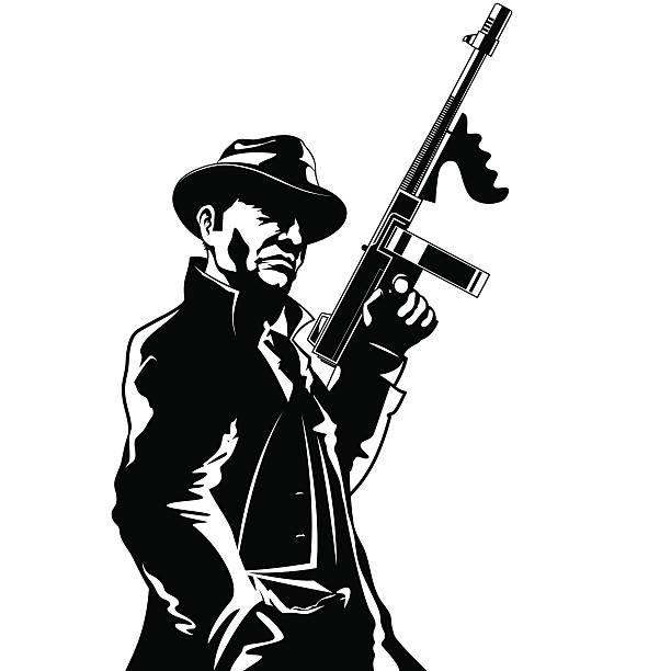 gangster - gangster stock illustrations, clip art, cartoons, & icons