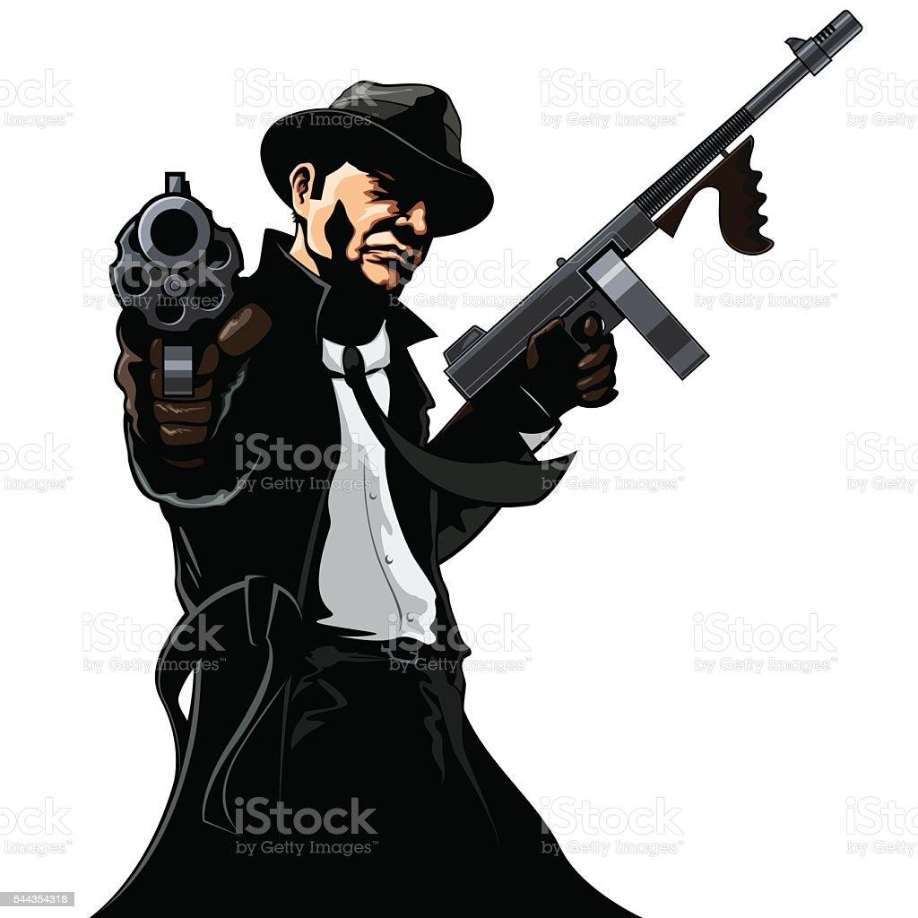 Gangster Stock Vector Art & More Images of Aiming ...Gangsta Artwork