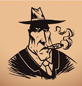 Gangster with a cigar