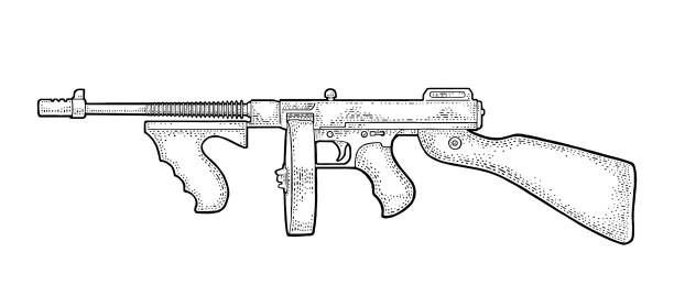 thompson machine gun coloring pages - photo#15
