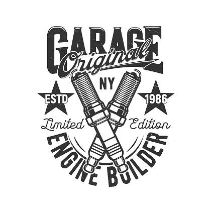 Garage, car and motorcycle custom engine motors