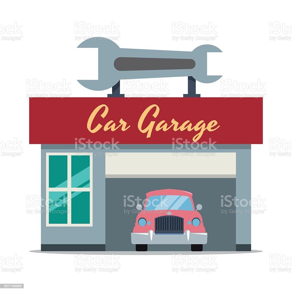 Garaż Wielopoziomowy Projekt Stockowa Ilustracja Wektorowa 527140563