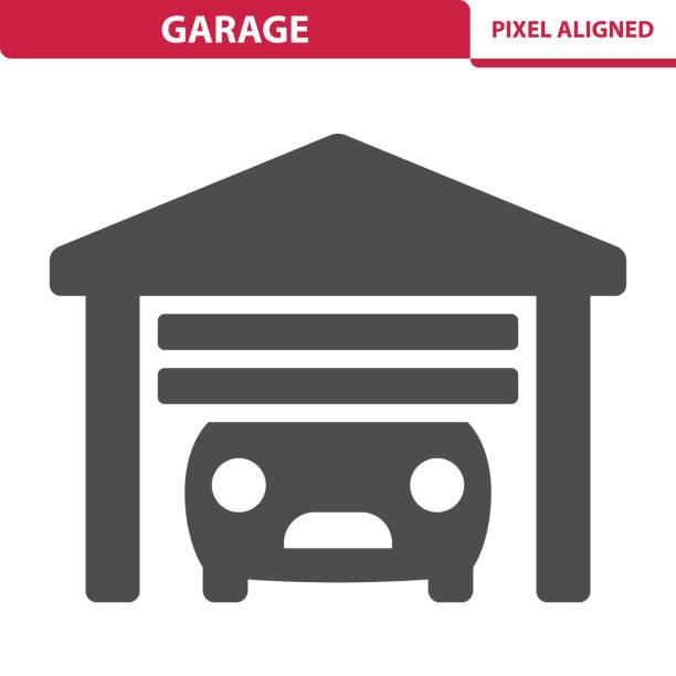 ilustrações, clipart, desenhos animados e ícones de ícone de garagem - garage