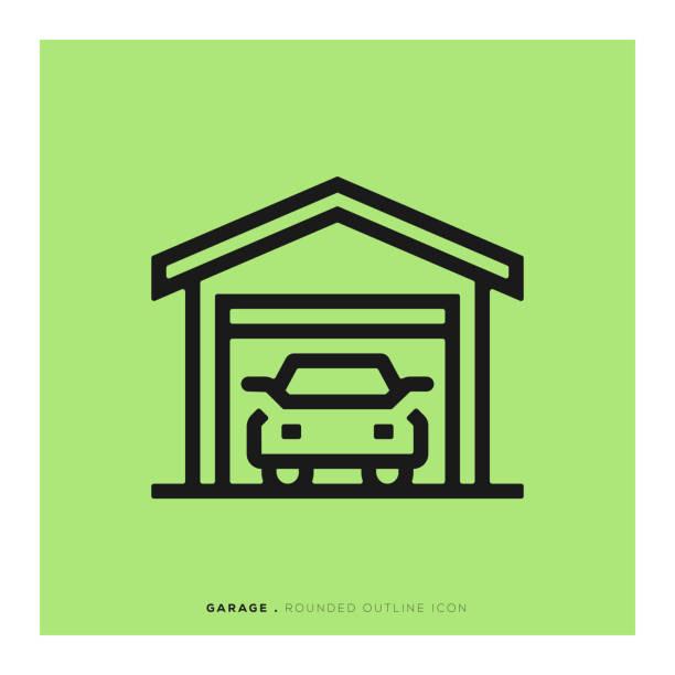Garage Icon Garage Icon driveway stock illustrations
