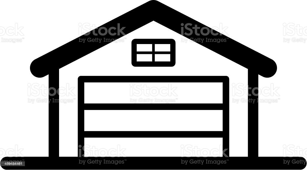 royalty free silhouette of a garage door clip art vector images rh istockphoto com  garage door clipart