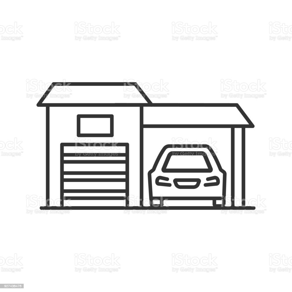 Pleasant Garage Icon Stock Illustration Download Image Now Istock Machost Co Dining Chair Design Ideas Machostcouk
