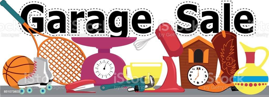 Vente de garage bannière - Illustration vectorielle