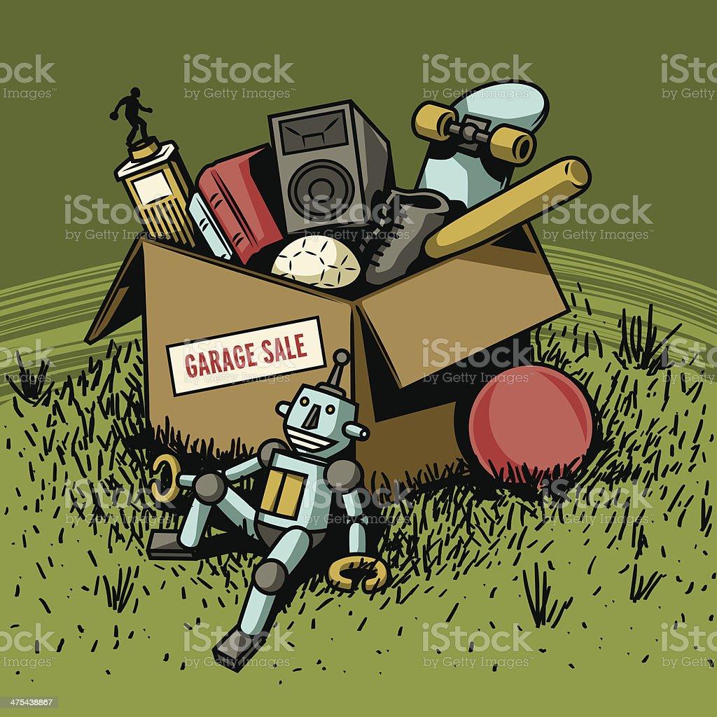 Parking Sale boîte - Illustration vectorielle