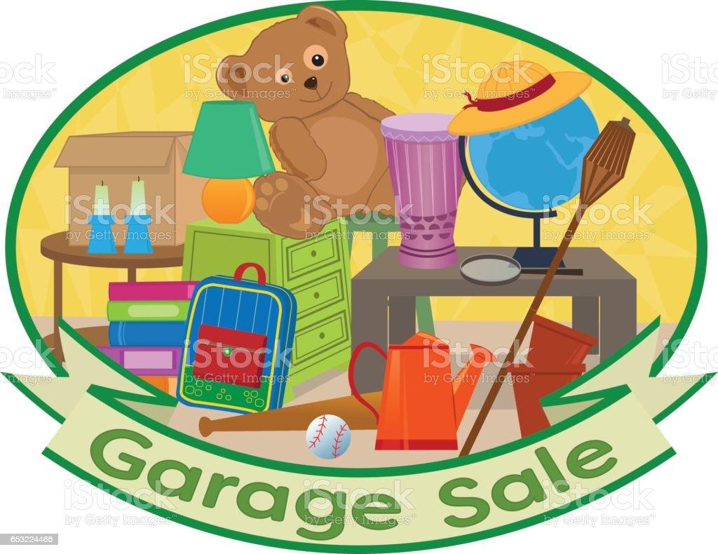 Garage Sale Clipart - Illustration vectorielle