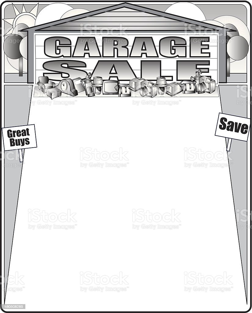 Cool Garage Conversions To Copy Immediately: Garage Sale Frame Stock Vector Art & More Images Of