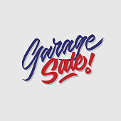 garage sale hand lettering typography sales and marketing shop store signage poster