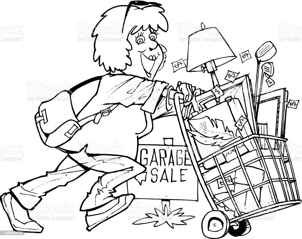 Parking Sale boutiques - Illustration vectorielle