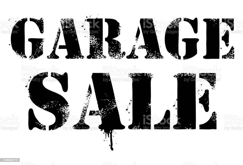 garage sale sign graffiti splash letters stock vector art more