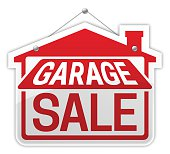 Garage sale sign. EPS 10 file. Transparency effects used on highlight elements.