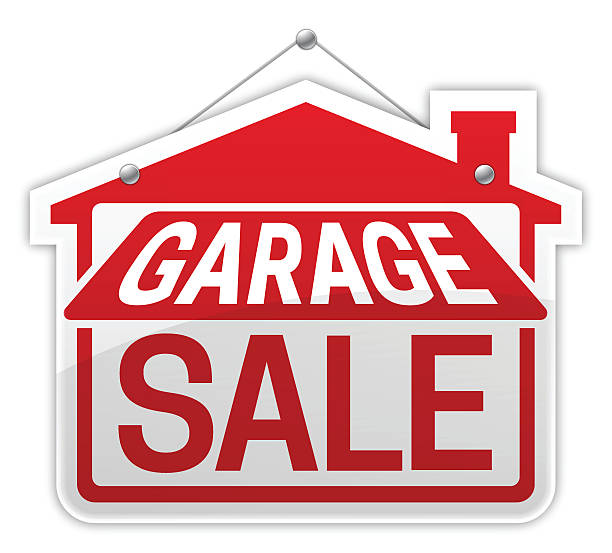 royalty free garage sale sign clip art vector images