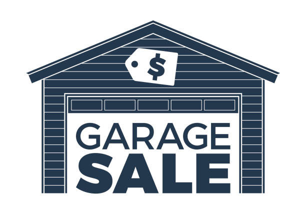 Royalty Free Two Car Garage Clip Art Vector Images