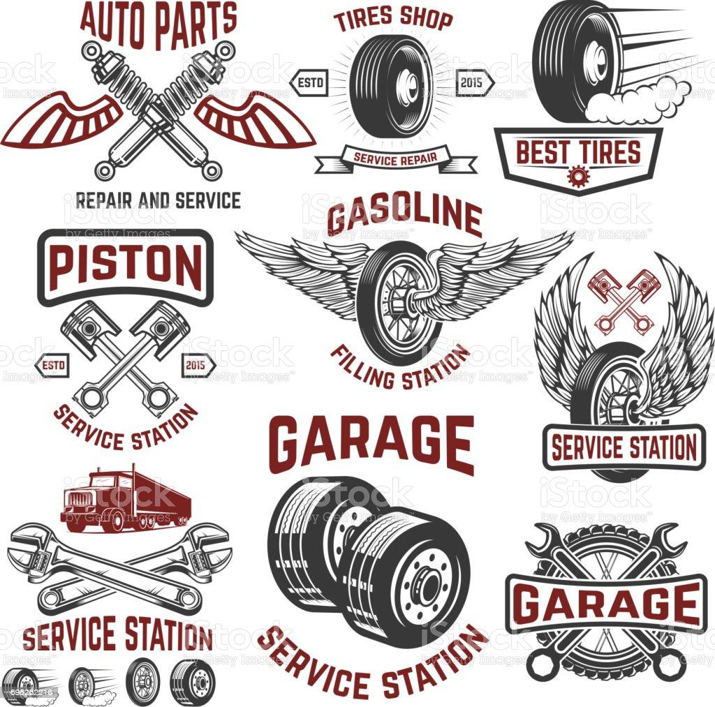 Garage Service Station Tires Shop Auto Parts Store Design