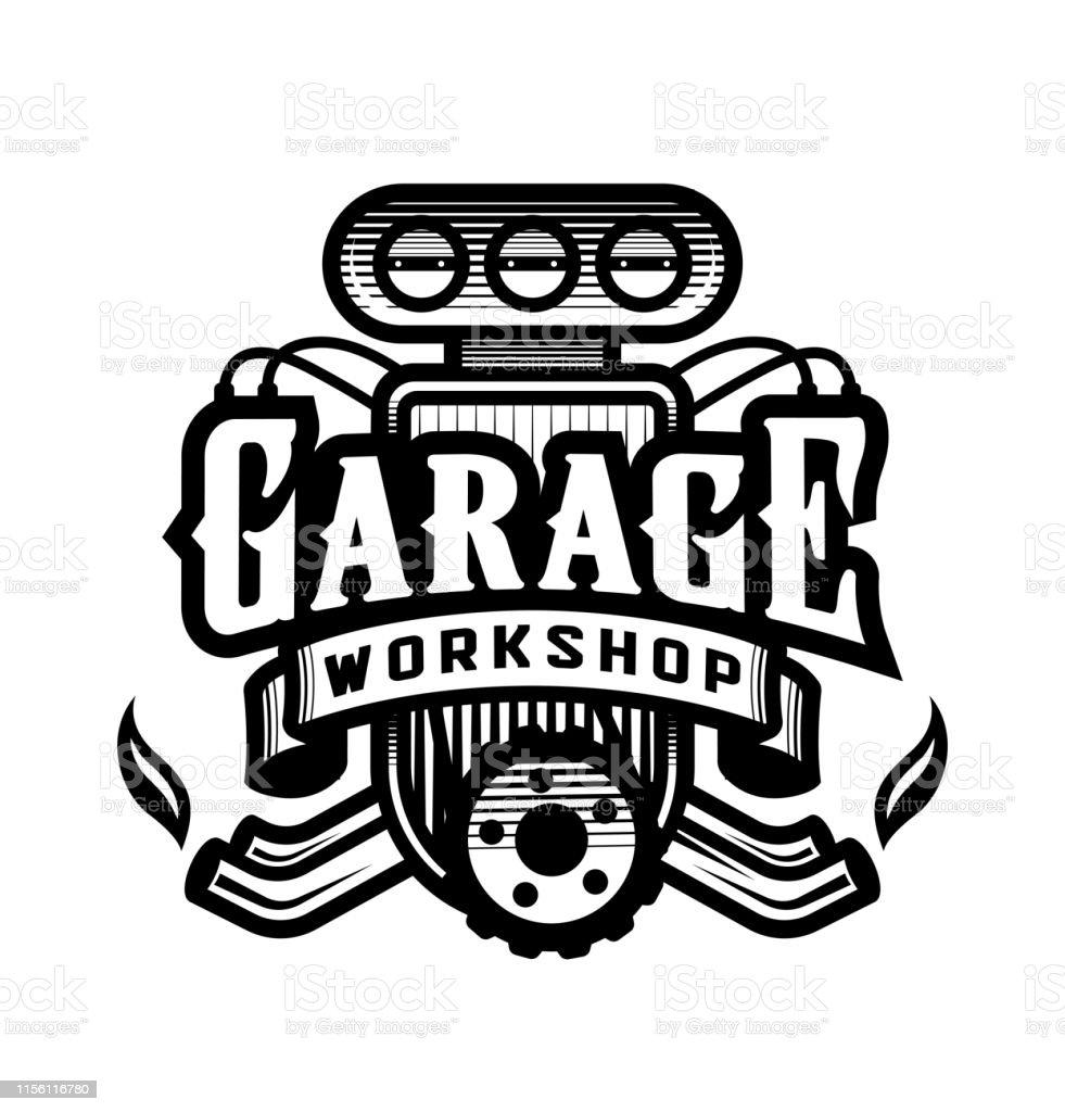 Vetores De Garagem Oficina Logotipo Do Carro Emblema