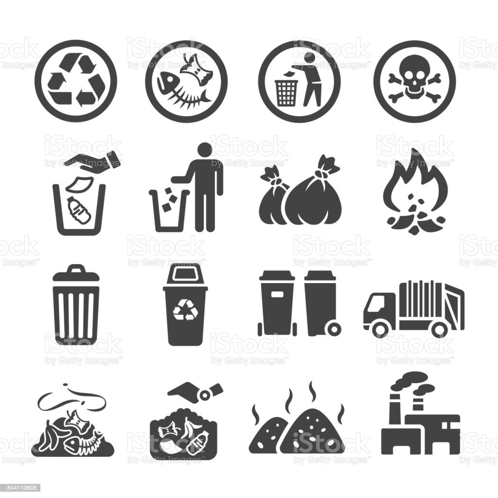 garbag icon vector art illustration