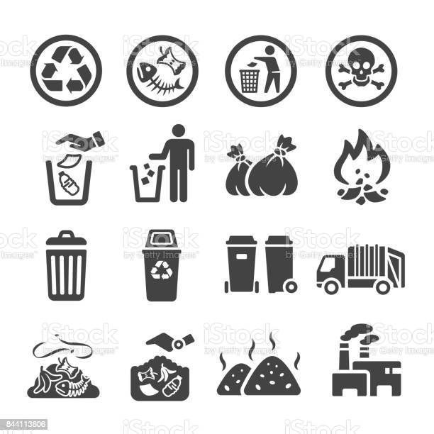 waste,garbage icon set,vector illustration