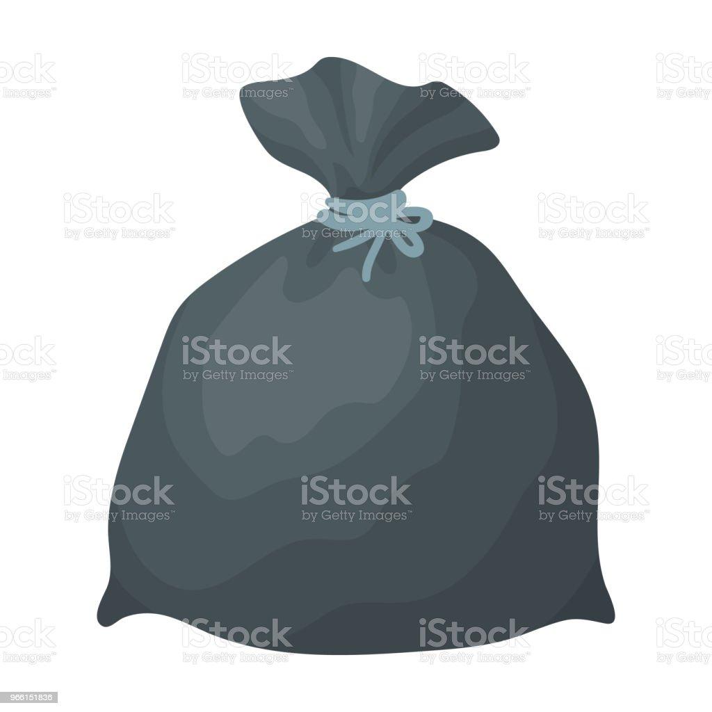 Müll-Beutel-Symbol im Cartoon-Stil, die isoliert auf weißem Hintergrund. Reinigung Symbol Lager Vektor-Illustration. - Lizenzfrei Behälter Vektorgrafik