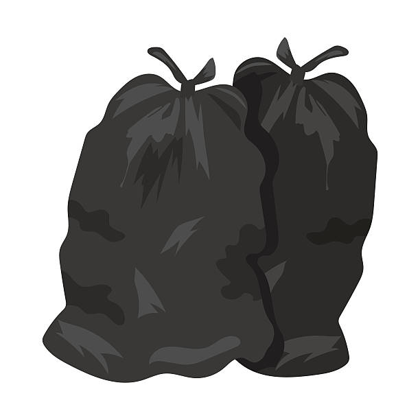Garbage bags vector illustration vector art illustration