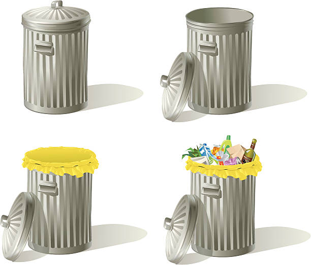 Garbage Can Lid Clip Art Vector Images Amp Illustrations