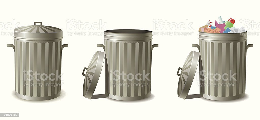 Garbage cans royalty-free garbage cans stock vector art & more images of basket