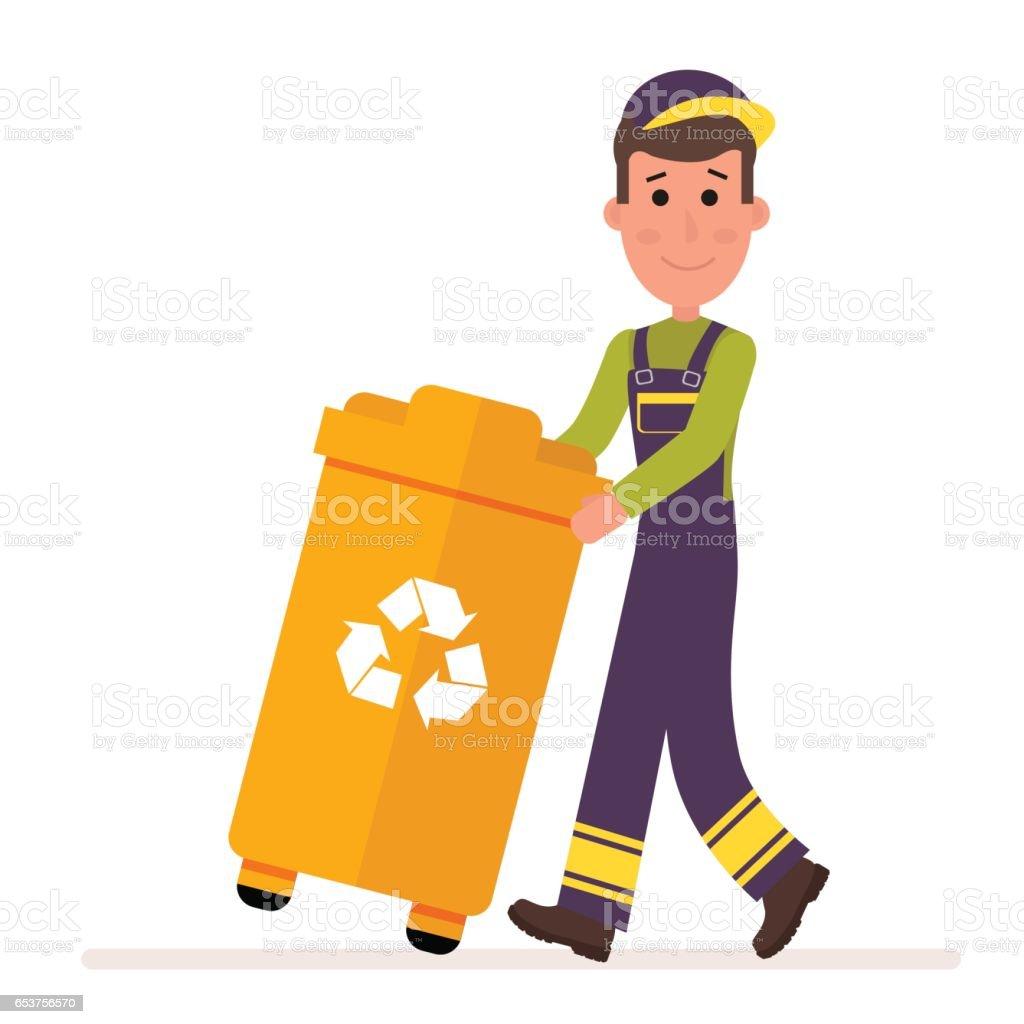 Plástico, reciclar, botede basura Clipart   k6738570   Fotosearch