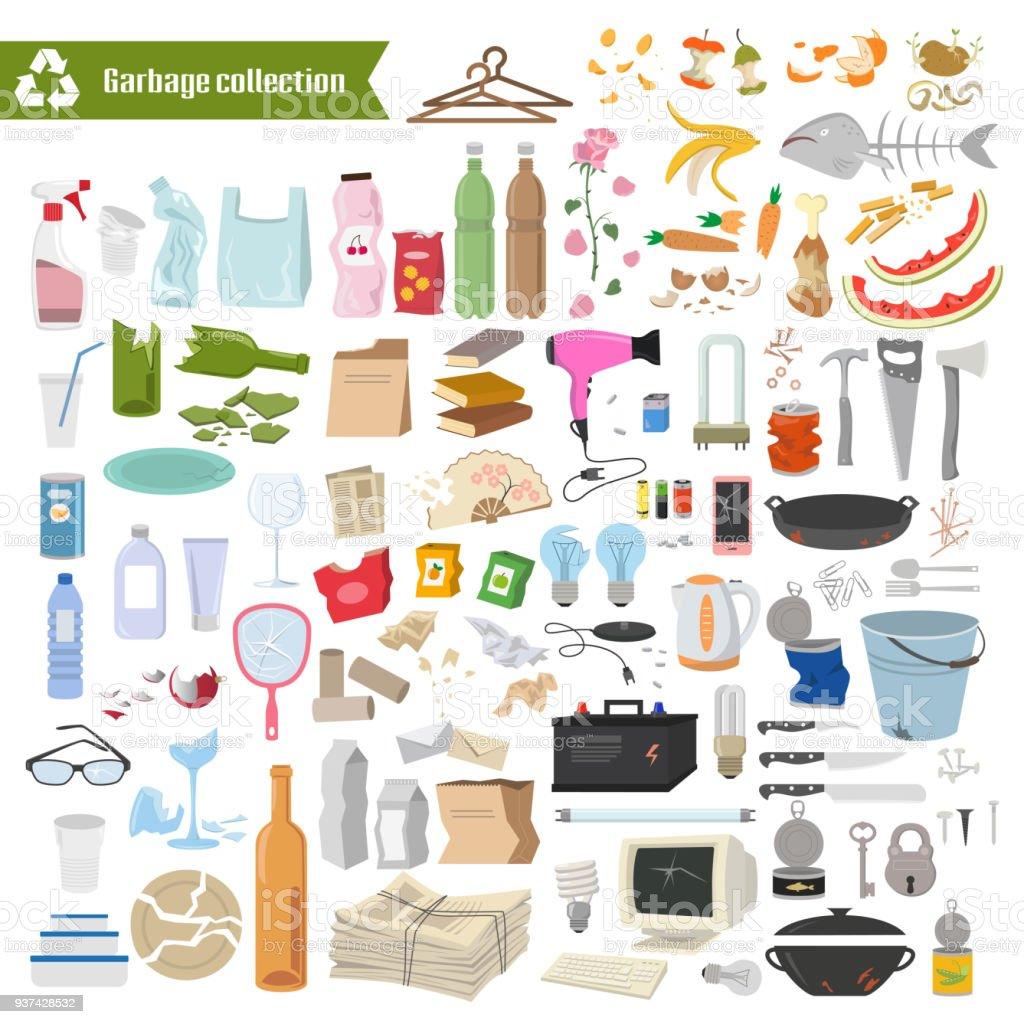 Recolección de basura. - ilustración de arte vectorial
