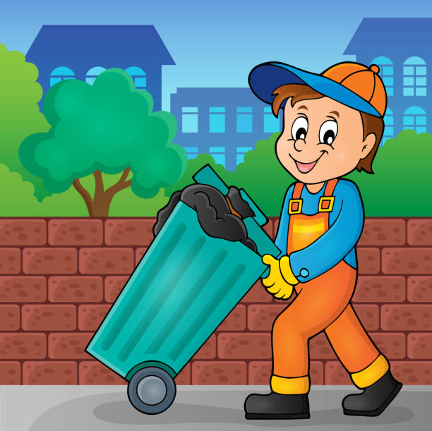 Garbage Collector Theme Image 2 Vector Art Illustration