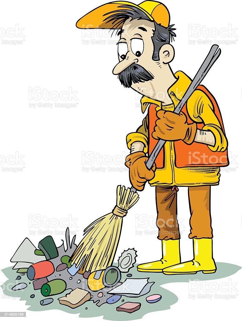 Garbage Collector Royalty Free Stock Vector Art