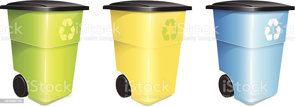 Garbage Container Set vector art illustration