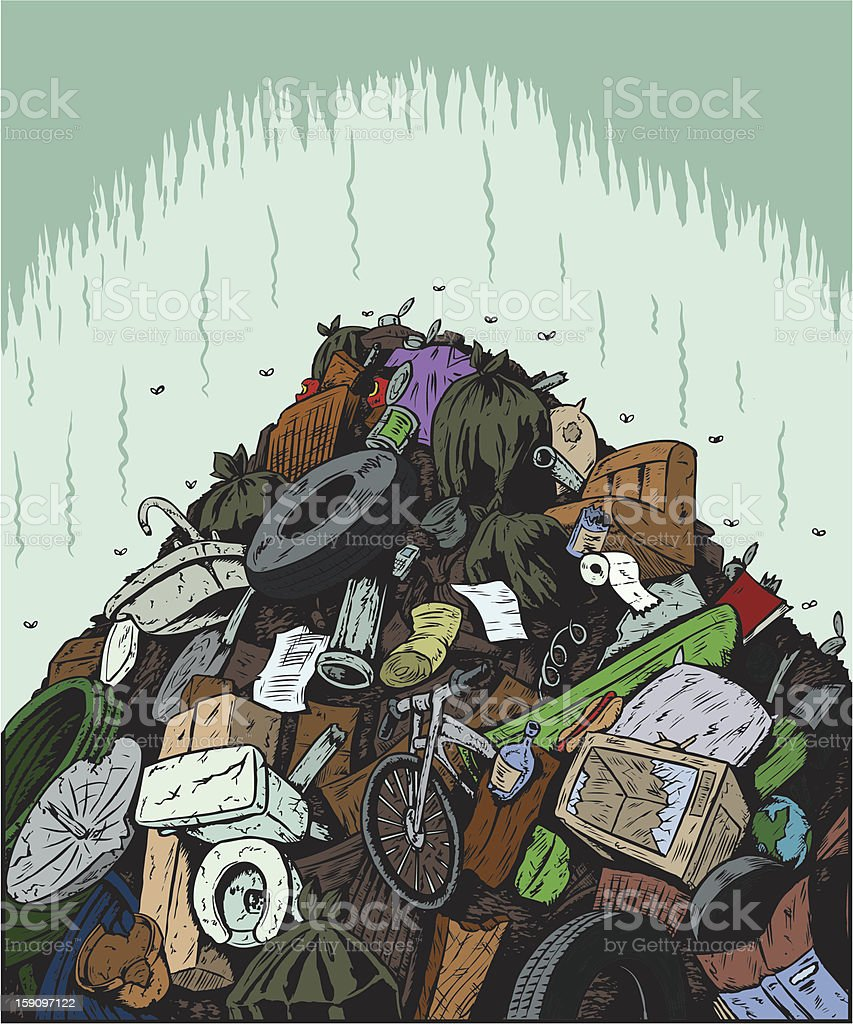 Garbage Dump vector art illustration