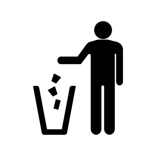 illustrations, cliparts, dessins animés et icônes de icône de la poubelle - dechets